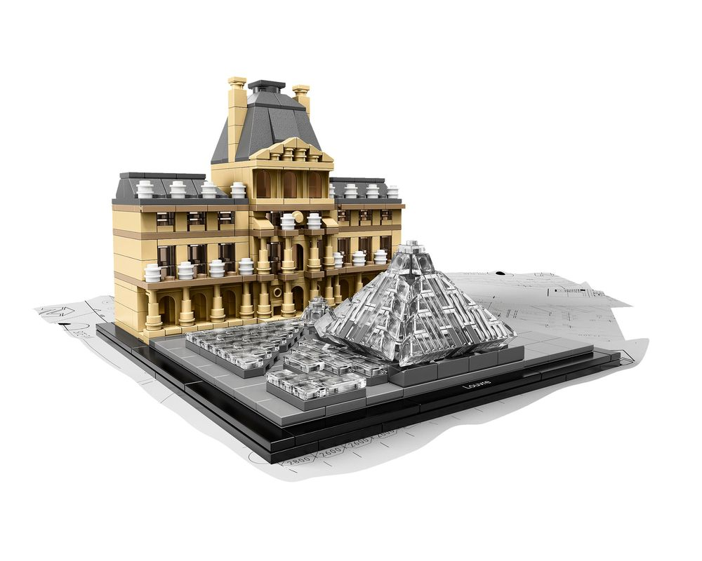 LEGO Set 21024-1 Louvre (Model - A-Model)