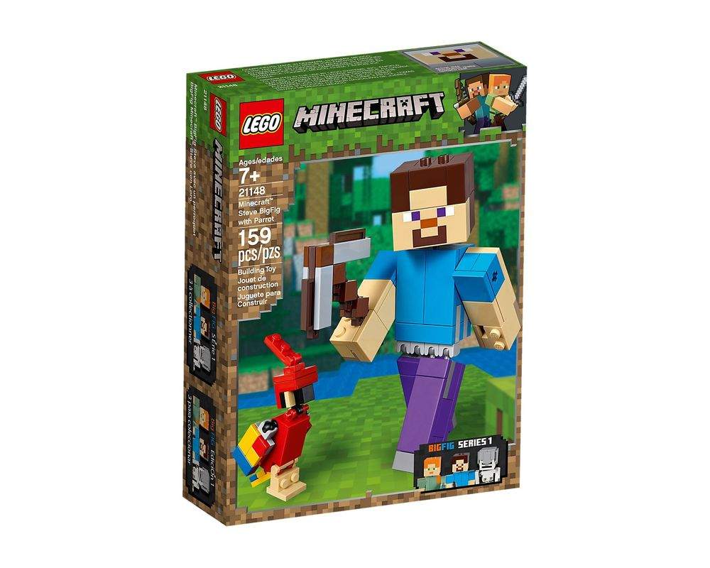 LEGO Set 21148-1 Minecraft Steve BigFig with Parrot