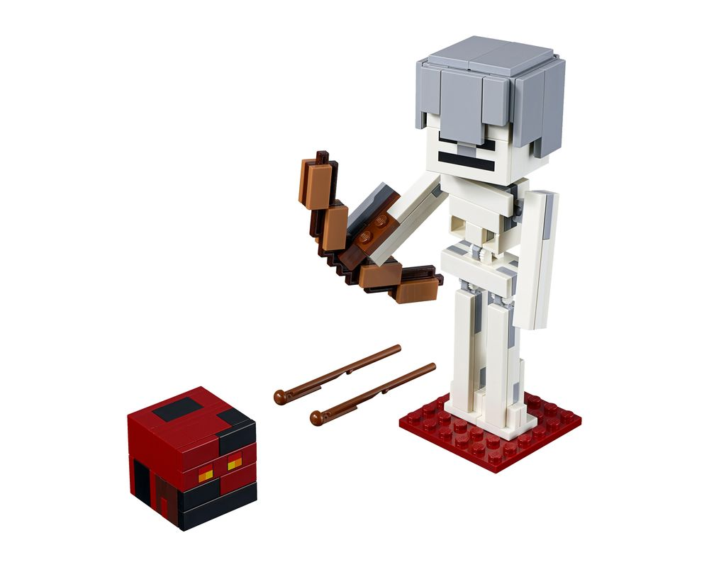 LEGO Set 21150-1 Minecraft Skeleton BigFig with Magma Cube (LEGO - Model)