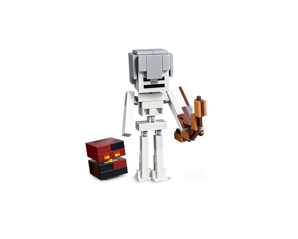 LEGO Set 21150-1 Minecraft Skeleton BigFig with Magma Cube