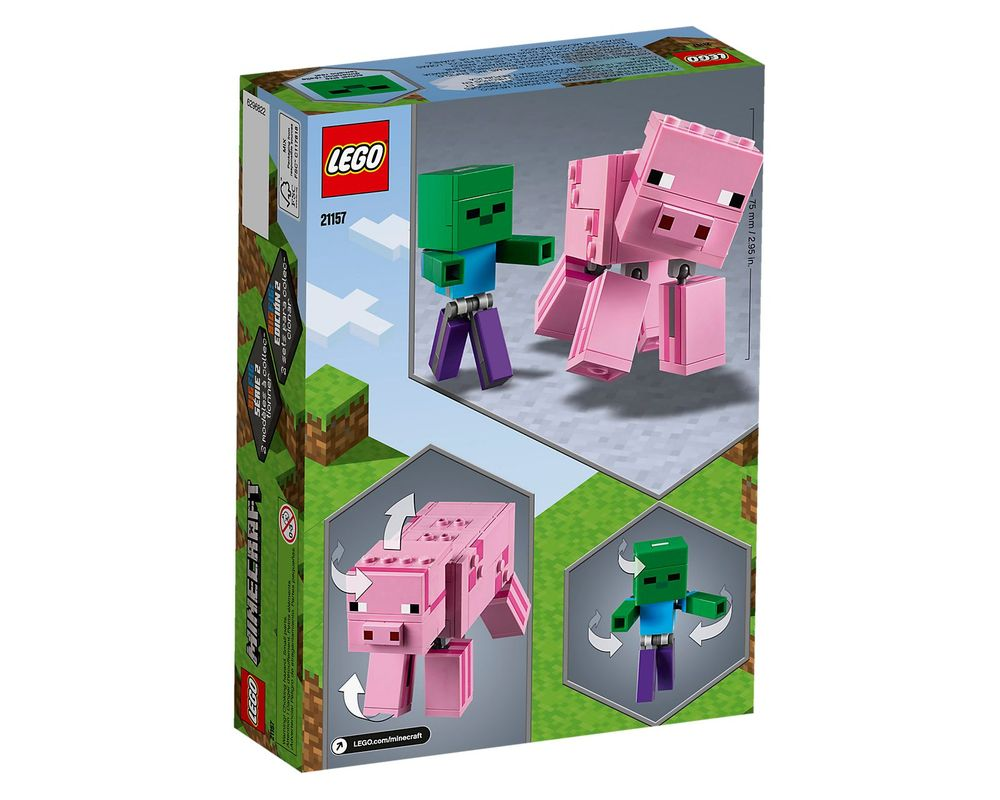 LEGO Set 21157-1 BigFig Pig with Baby Zombie