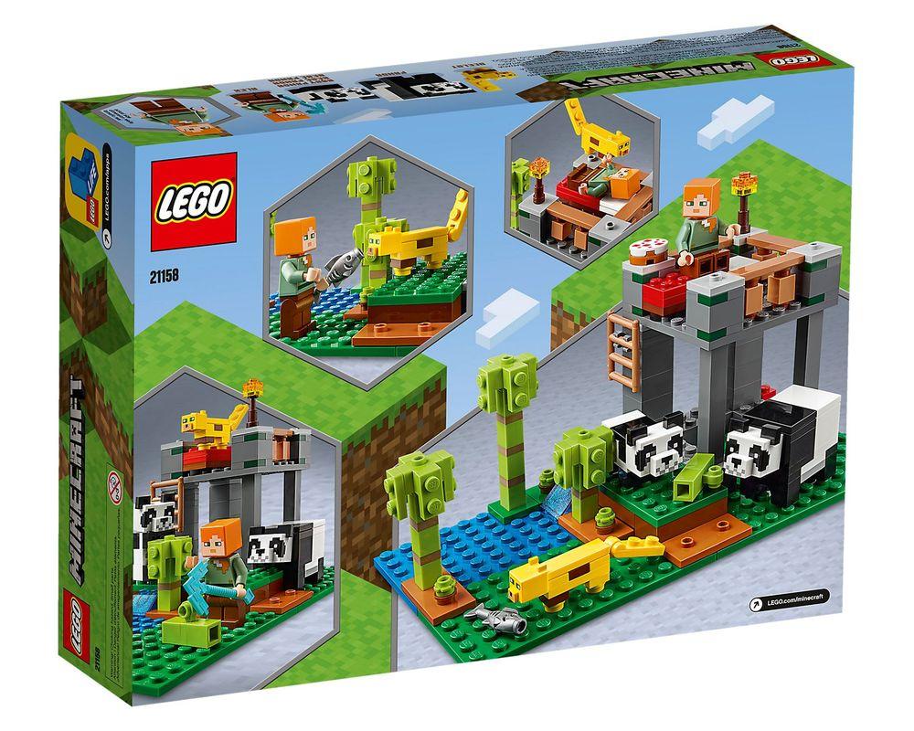 LEGO Set 21158-1 The Panda Nursery (Box - Back)