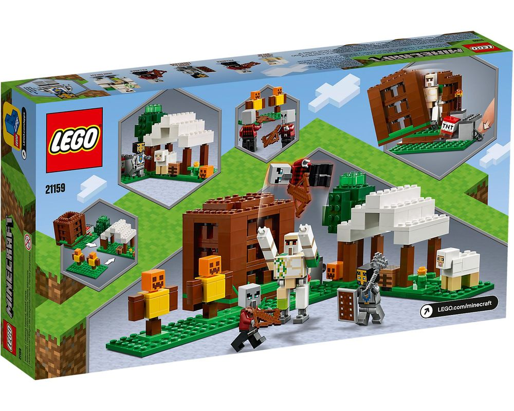 LEGO Set 21159-1 The Pillager Outpost (Box - Back)