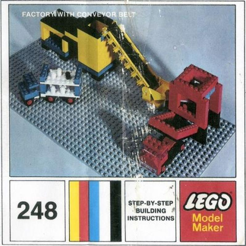 LEGO 248-2 Factory With Conveyor Belt (1971 Legoland