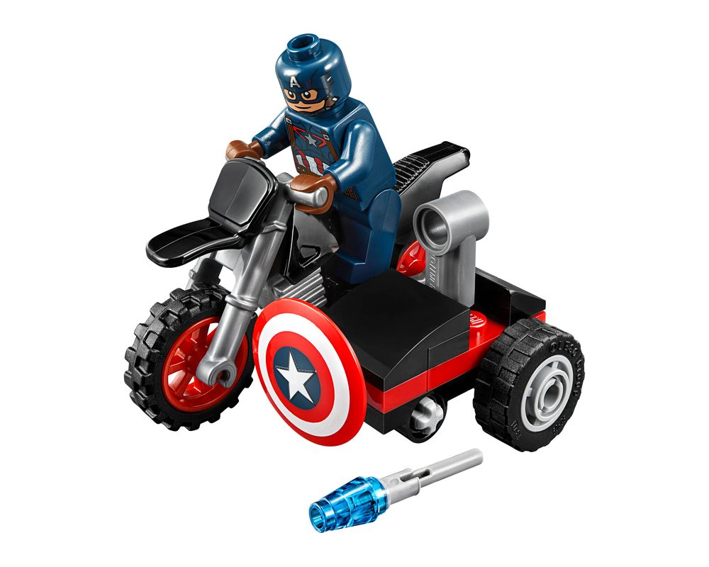 LEGO Set 30447-1 Captain America's Motorcycle (Model - A-Model)