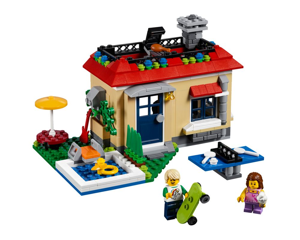 LEGO Set 31067-1 Modular Poolside Holiday (LEGO - Model)