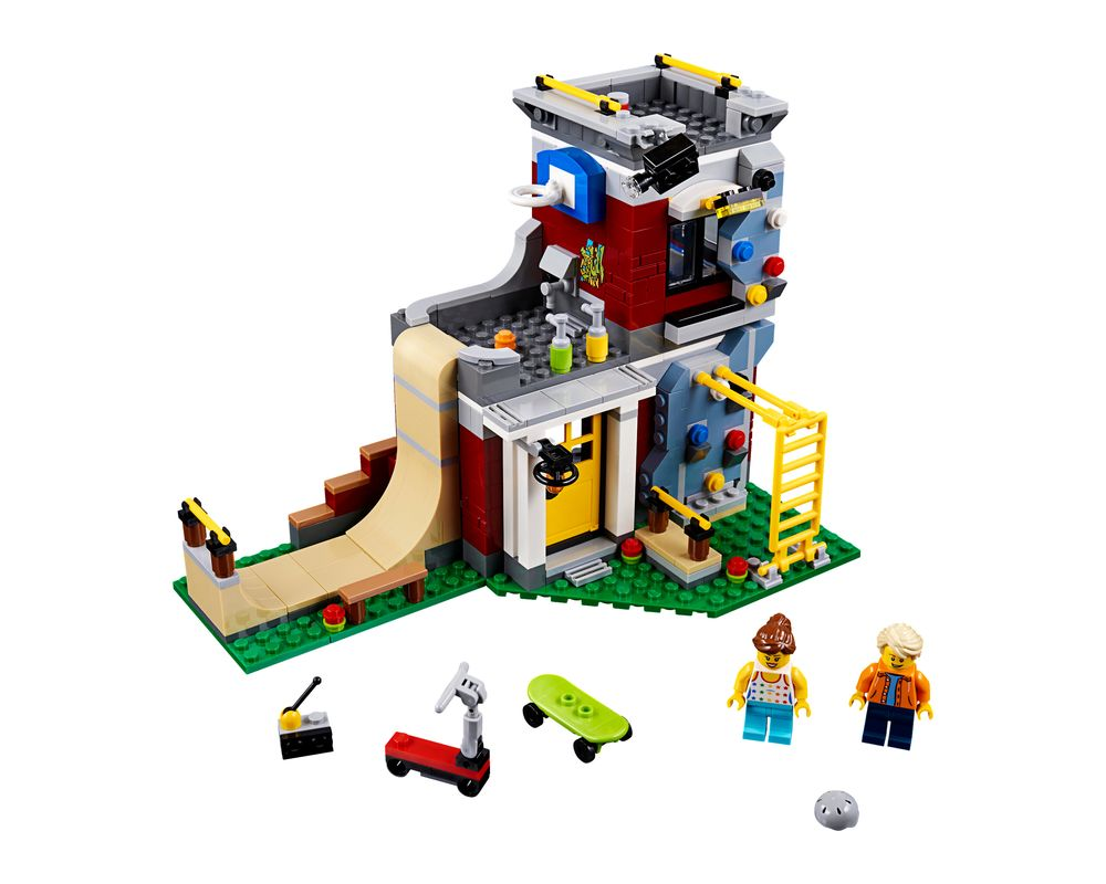 LEGO Set 31081-1 Modular Skate House (Model - A-Model)