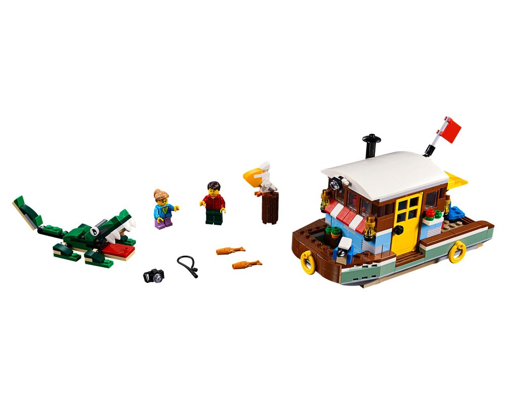 LEGO Set 31093-1 Riverside Houseboat (Model - A-Model)