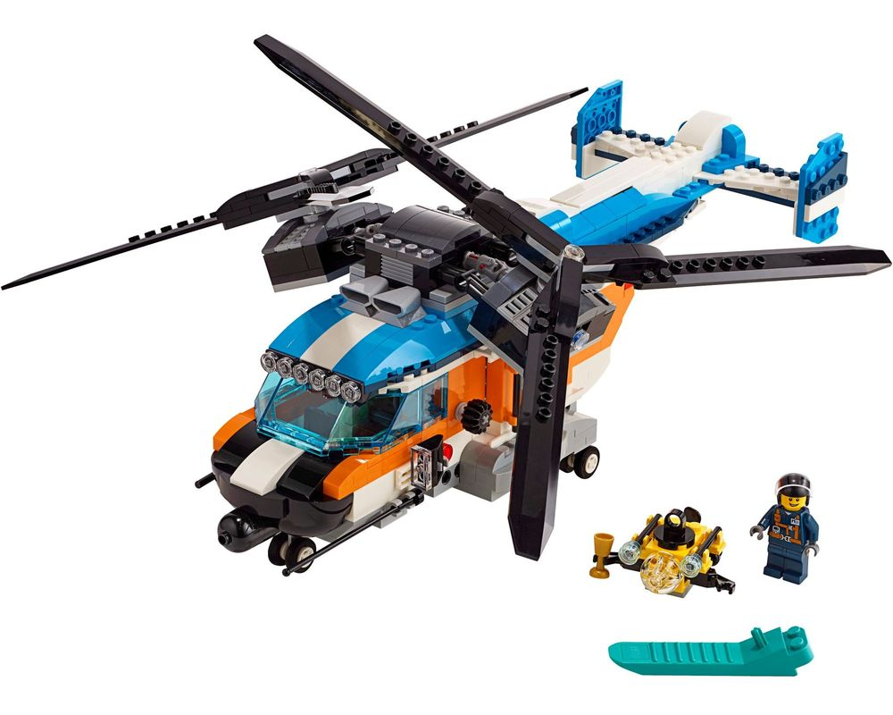 LEGO Set 31096-1 Twin-Rotor Helicopter (Model - A-Model)