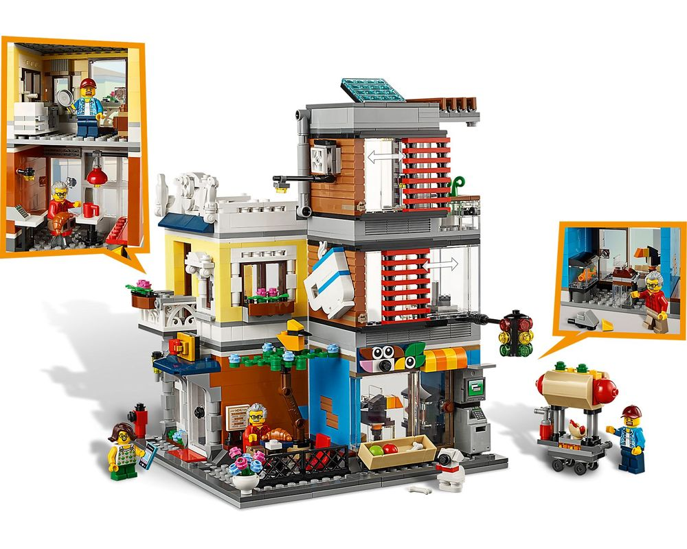LEGO Set 31097-1 Townhouse Pet Shop & Café