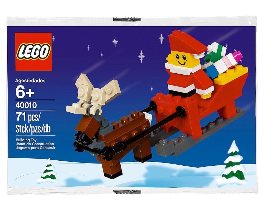 LEGO Set 40010-1 Santa with Sleigh