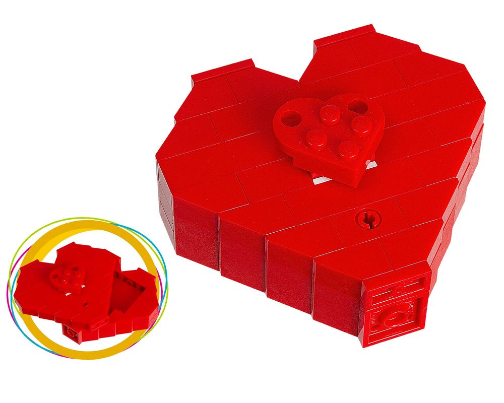 LEGO Set 40051-1 Valentine's Day Heart Box (LEGO - Model)