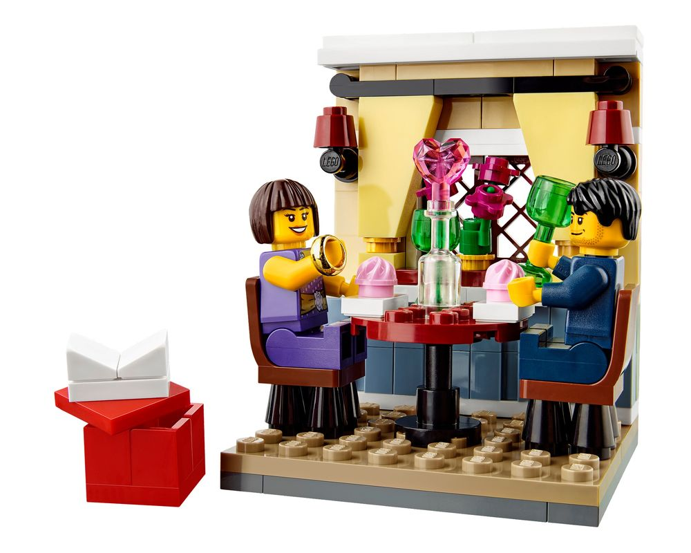 LEGO Set 40120-1 Valentine's Day Dinner (Model - A-Model)