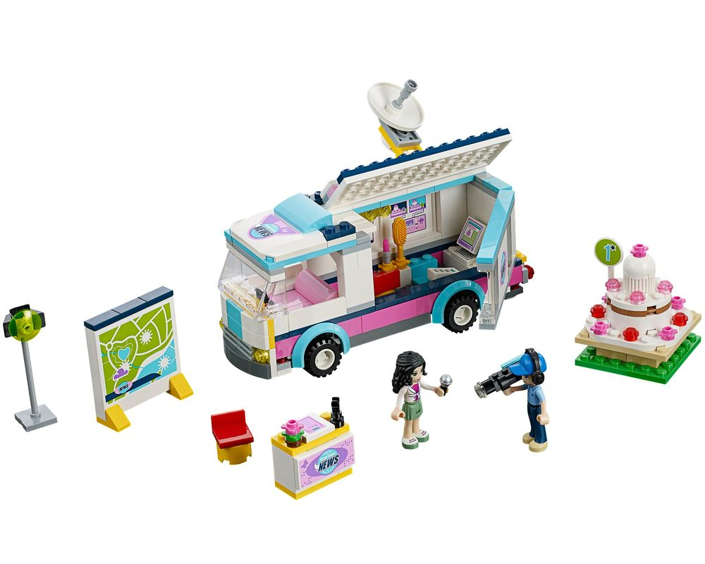 LEGO Set 41056-1 Heartlake News Van (Model - A-Model)