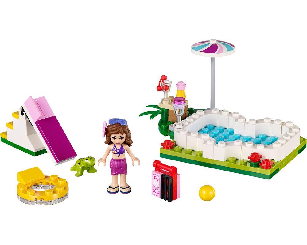 LEGO Set 41090-1 Olivia's Garden Pool (LEGO - Model)