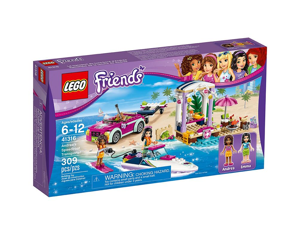 LEGO Set 41316-1 Andrea's Speedboat Transporter