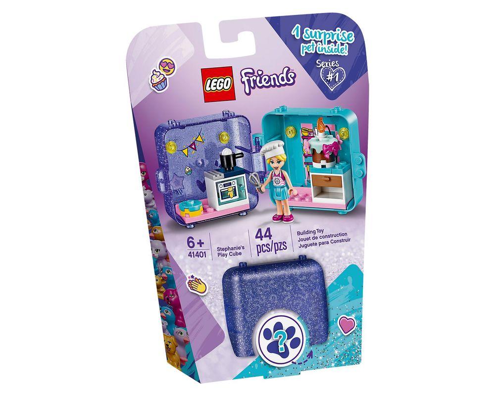LEGO Set 41401-1 Stephanie's Play Cube - Dark Azure Puppy (Box - Front)