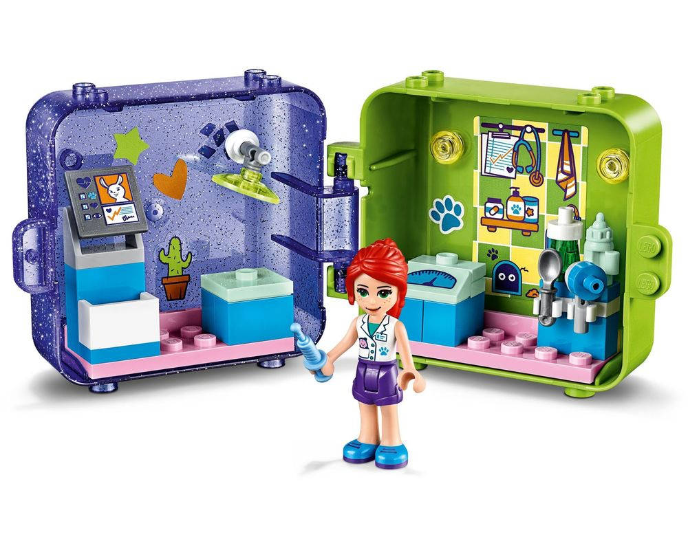 LEGO Set 41403-1 Mia's Play Cube - Dark Azure Rabbit (Model - A-Model)