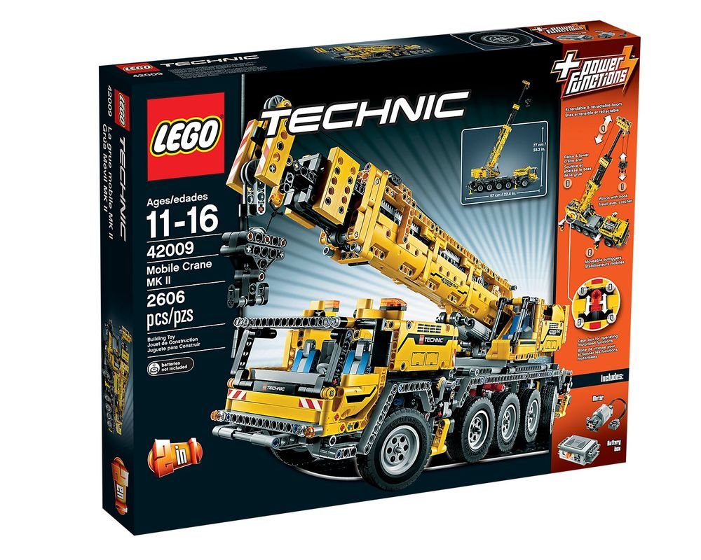 LEGO Set 42009-1 Mobile Crane MK II (Box - Front)