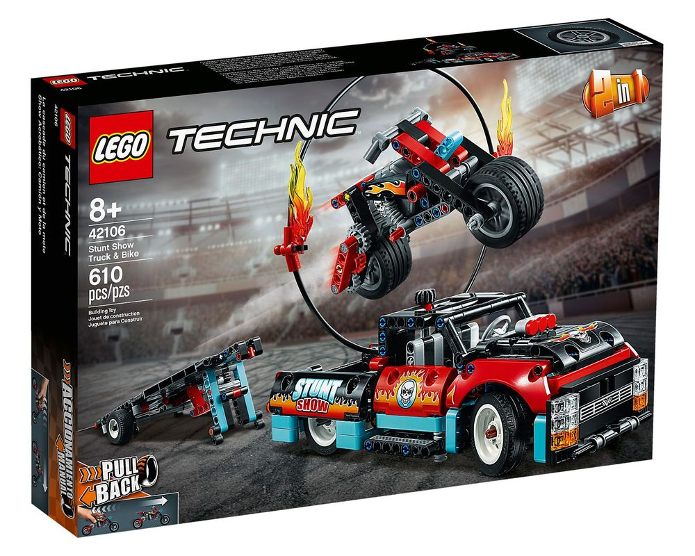 LEGO Set 42106-1 Stunt Show Truck & Bike (Box - Front)
