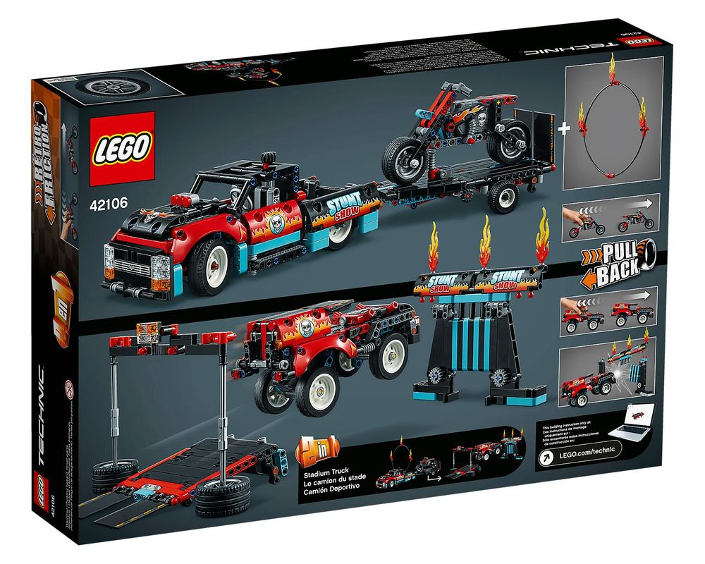 LEGO Set 42106-1 Stunt Show Truck & Bike (Box - Back)