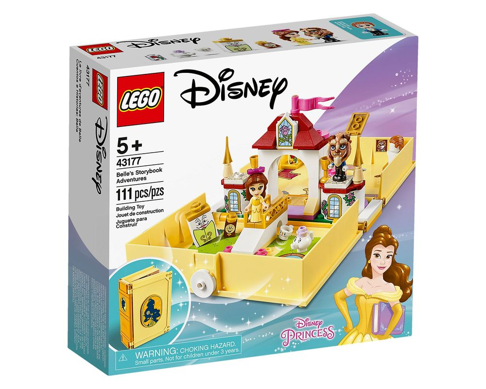 LEGO Set 43177-1 Belle's Storybook Adventures (Box - Front)
