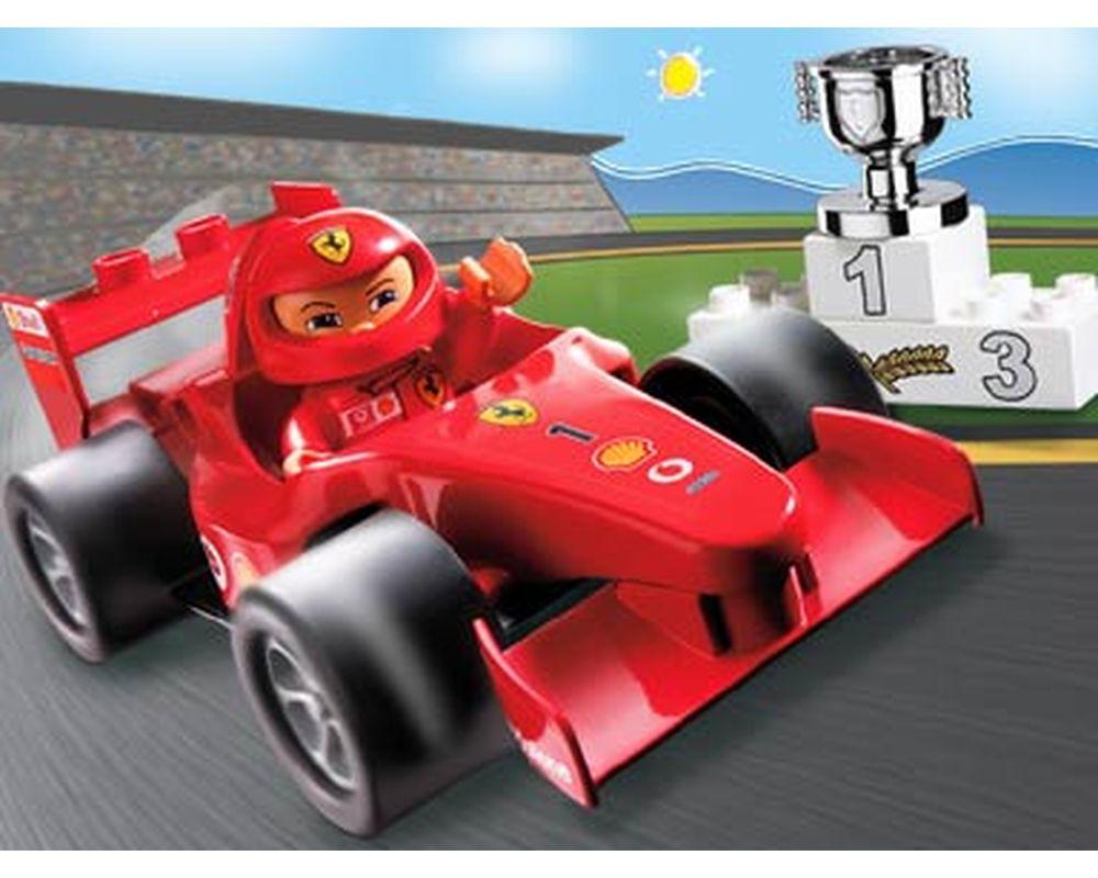 Lego Set 4693 1 Ferrari F1 Race Car 2004 Duplo Rebrickable Build With Lego
