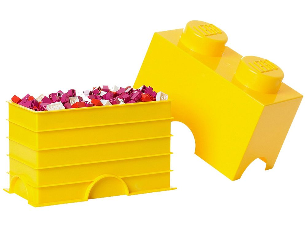 LEGO Set 5003570-1 2 stud Yellow Storage Brick