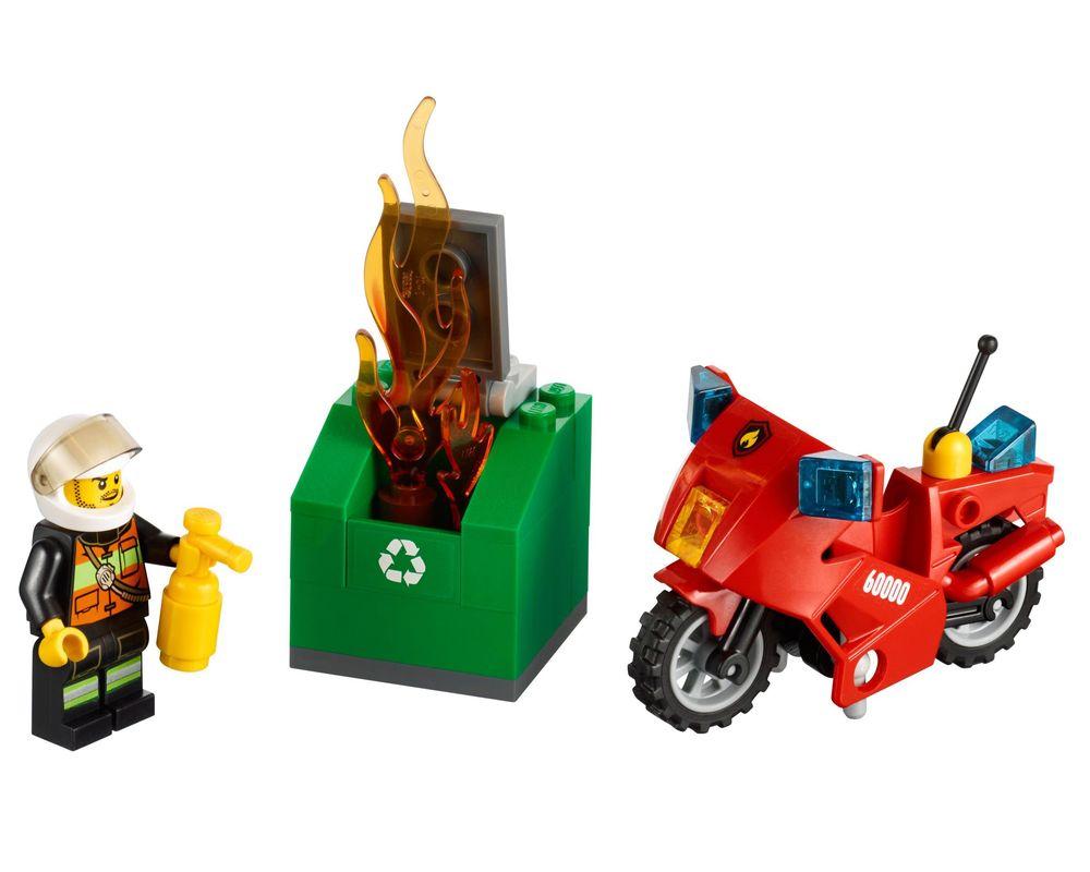 LEGO Set 60000-1 Fire Motorcycle (LEGO - Model)