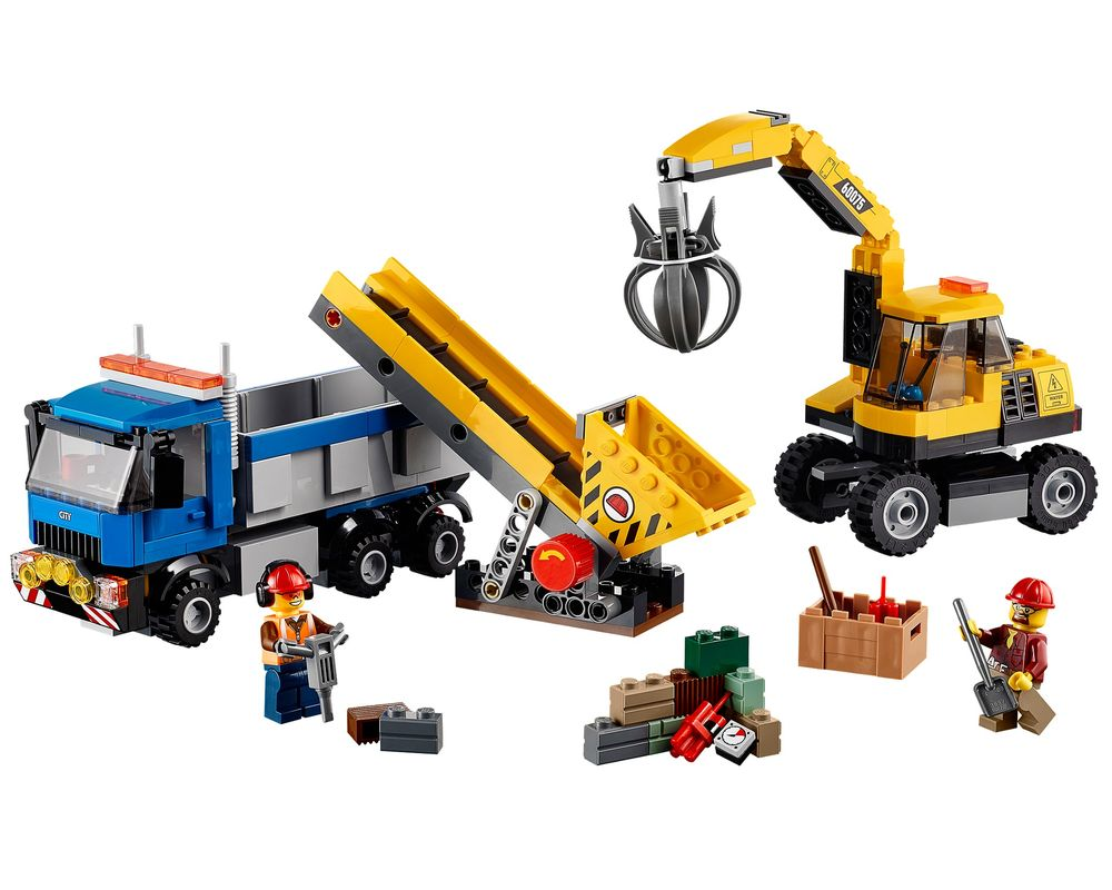 LEGO Set 60075-1 Excavator and Truck (Model - A-Model)