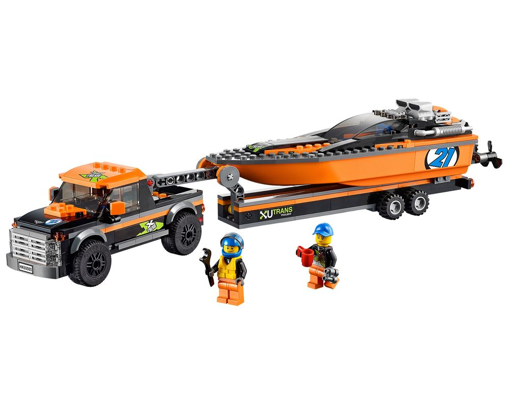 LEGO Set 60085-1 4x4 with Powerboat (LEGO - Model)