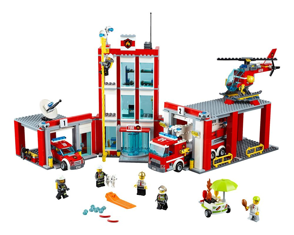 LEGO Set 60110-1 Fire Station (Model - A-Model)