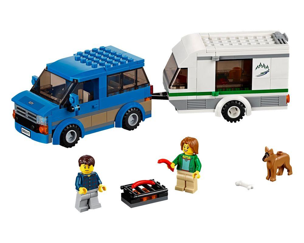 LEGO Set 60117-1 Van & Caravan (LEGO - Model)