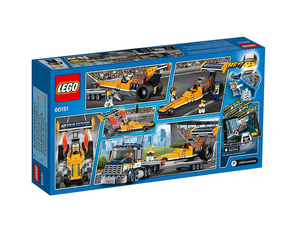 LEGO Set 60151-1 Dragster Transporter