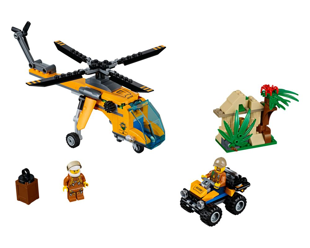 LEGO Set 60158-1 Jungle Cargo Helicopter (Model - A-Model)