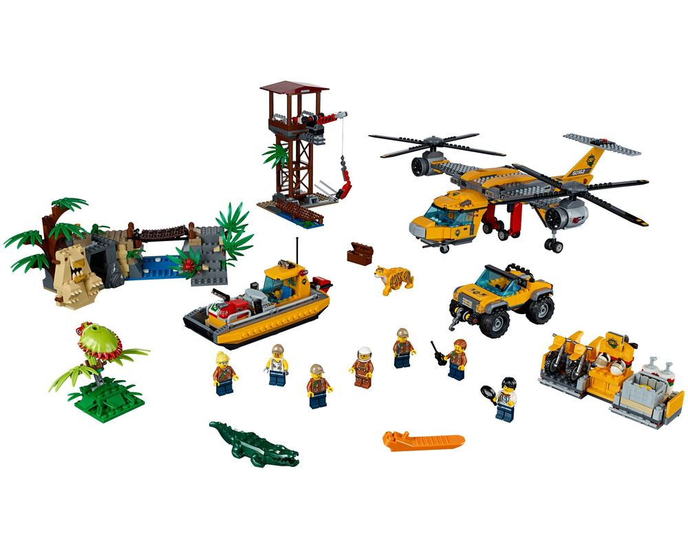 LEGO Set 60162-1 Jungle Air Drop Helicopter (LEGO - Model)