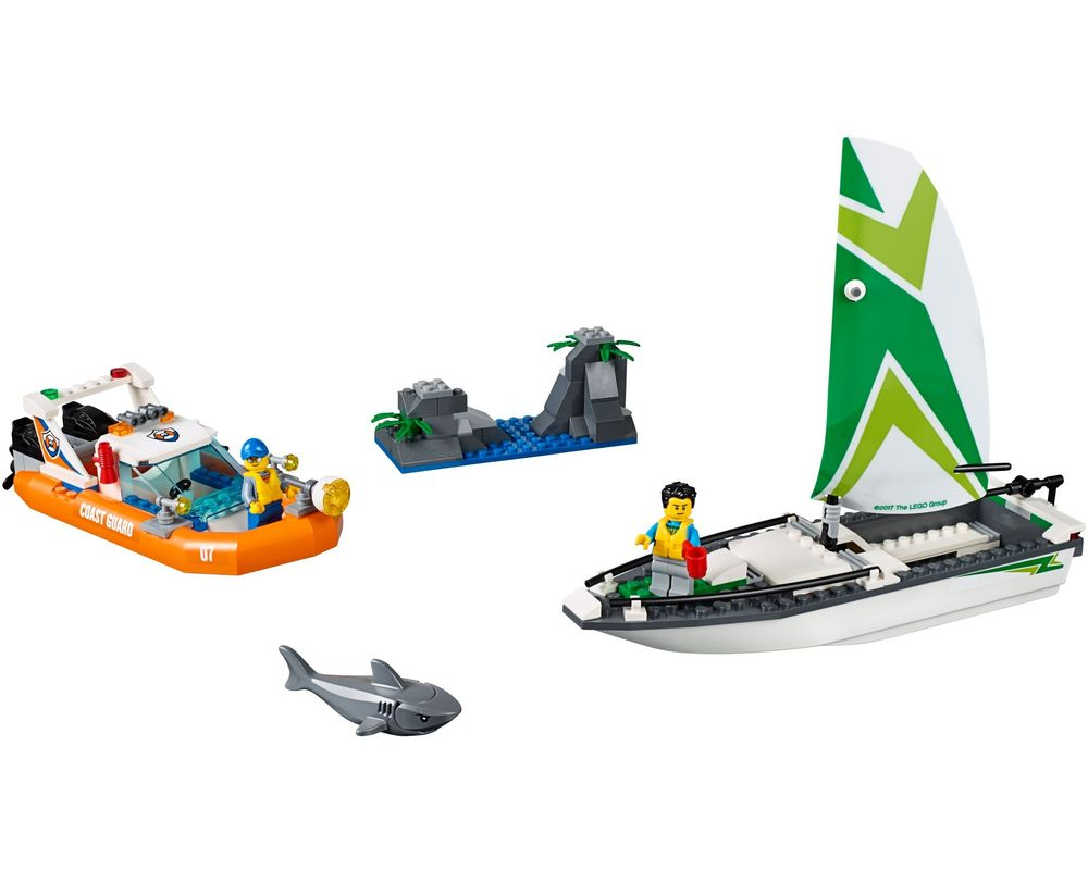 LEGO Set 60168-1 Sailboat Rescue (LEGO - Model)