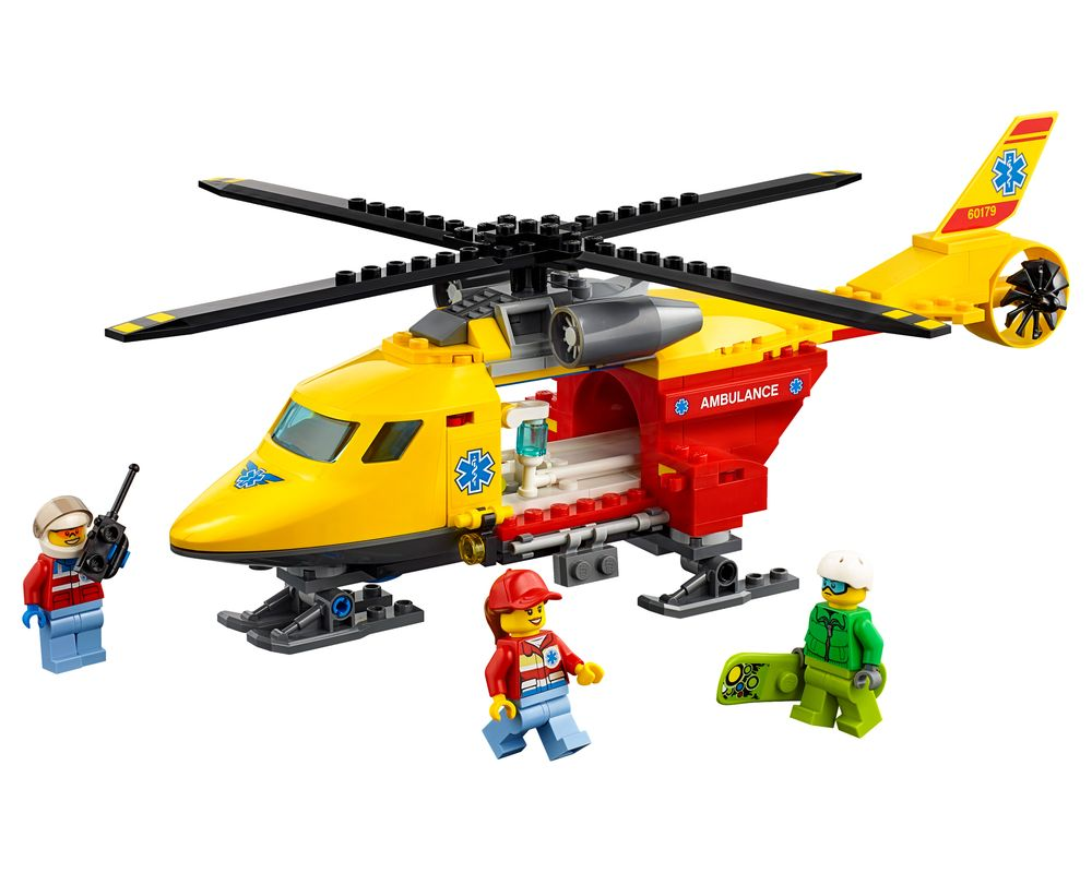LEGO Set 60179-1 Ambulance Helicopter (Model - A-Model)