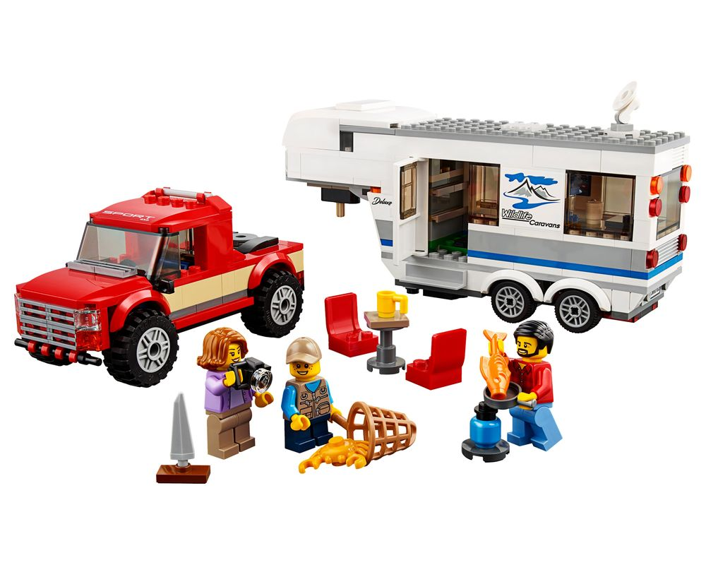 LEGO Set 60182-1 Pickup & Caravan (Model - A-Model)