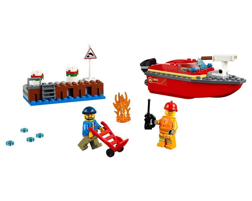 LEGO Set 60213-1 Dock Side Fire (Model - A-Model)