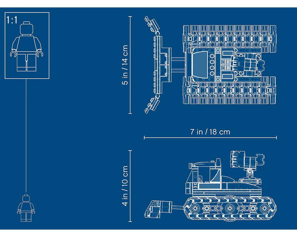 LEGO Set 60222-1 Snow Groomer