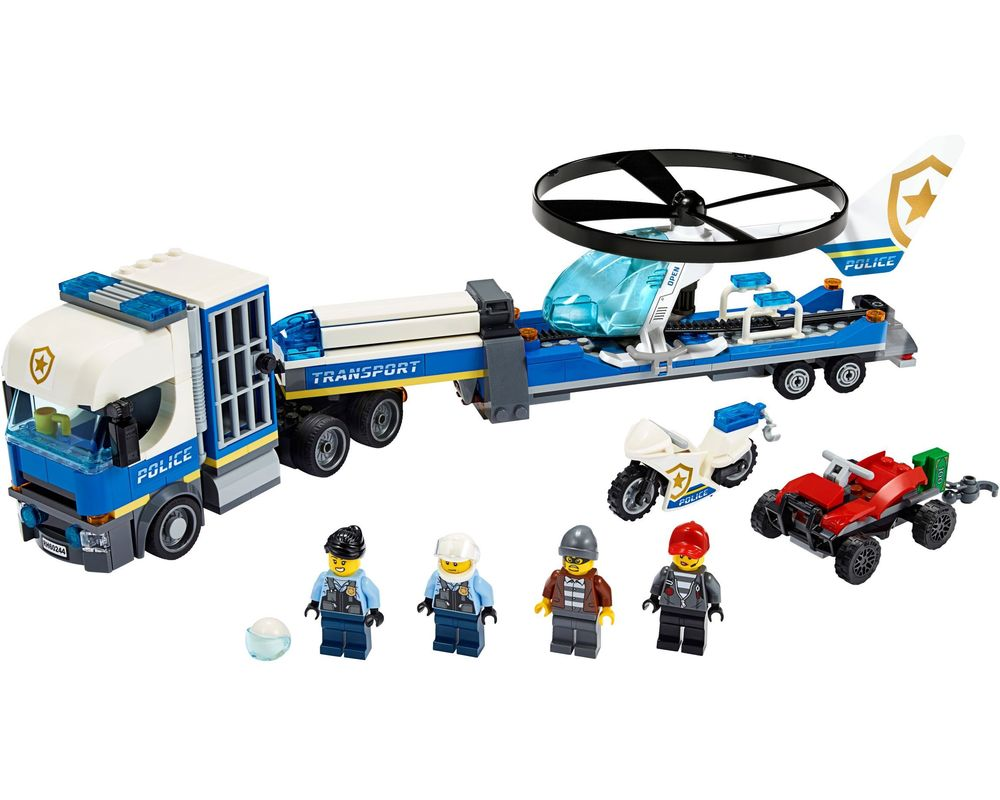 LEGO Set 60244-1 Police Helicopter Transport (Model - A-Model)