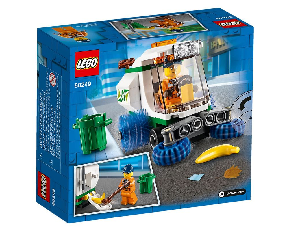 LEGO Set 60249-1 Street Sweeper (Box - Back)