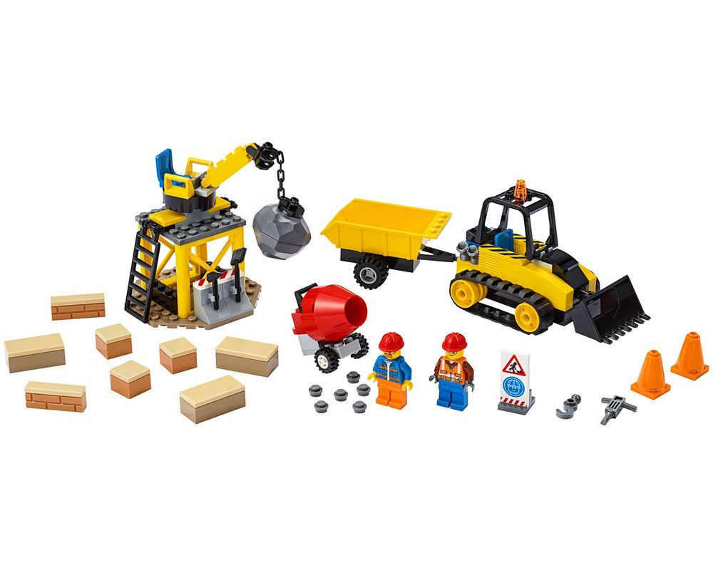 LEGO Set 60252-1 Construction Bulldozer (Model - A-Model)