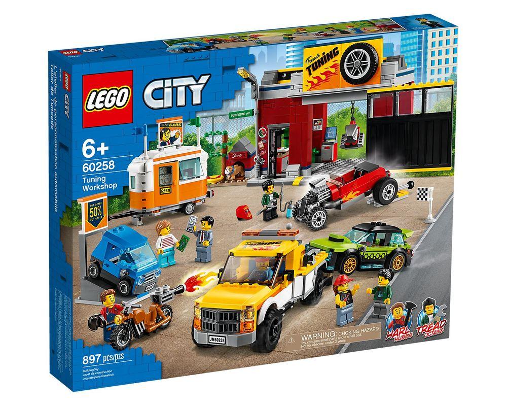 LEGO Set 60258-1 Tuning Workshop (LEGO - Box Front)