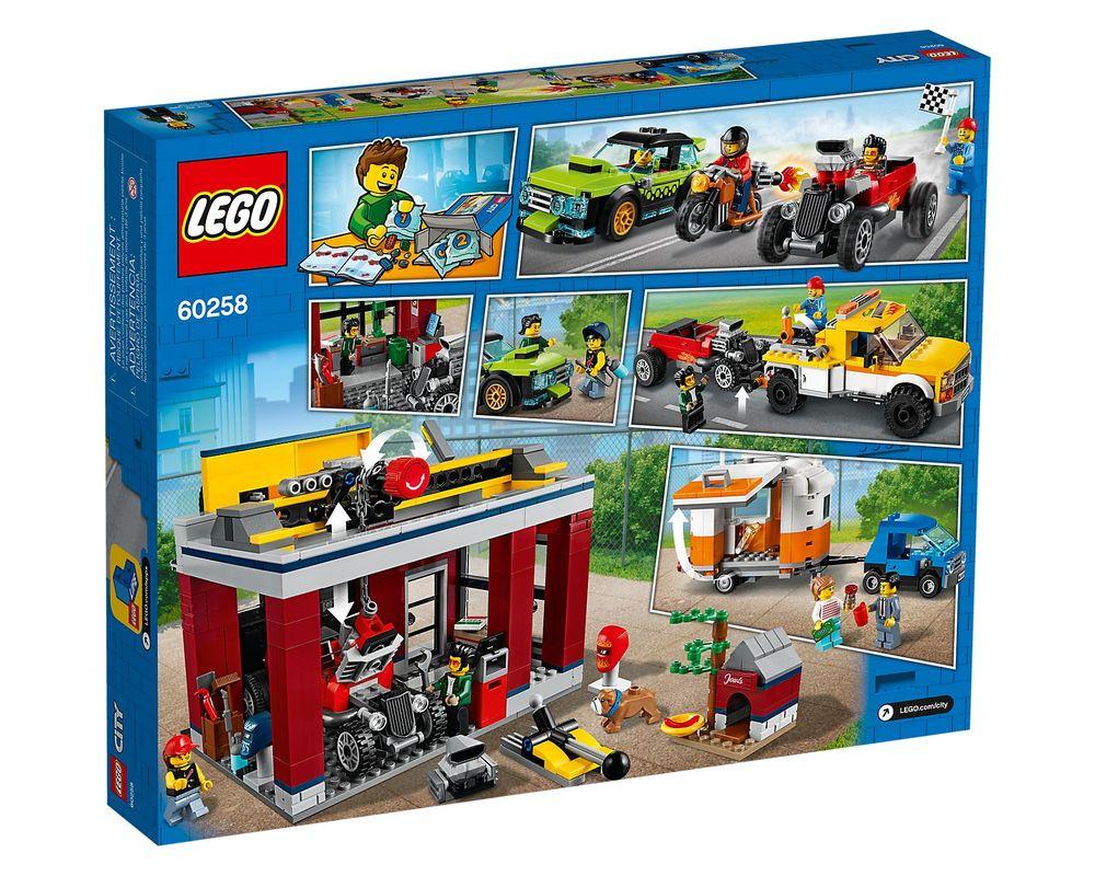 LEGO Set 60258-1 Tuning Workshop (LEGO - Box Back)