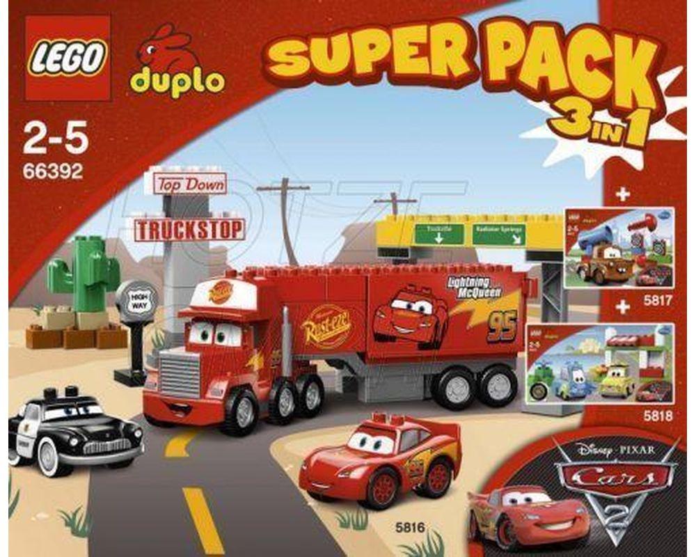 Lego Set 66392 1 Duplo Cars Super Pack 3 In 1 2012 Duplo Cars Rebrickable Build With Lego
