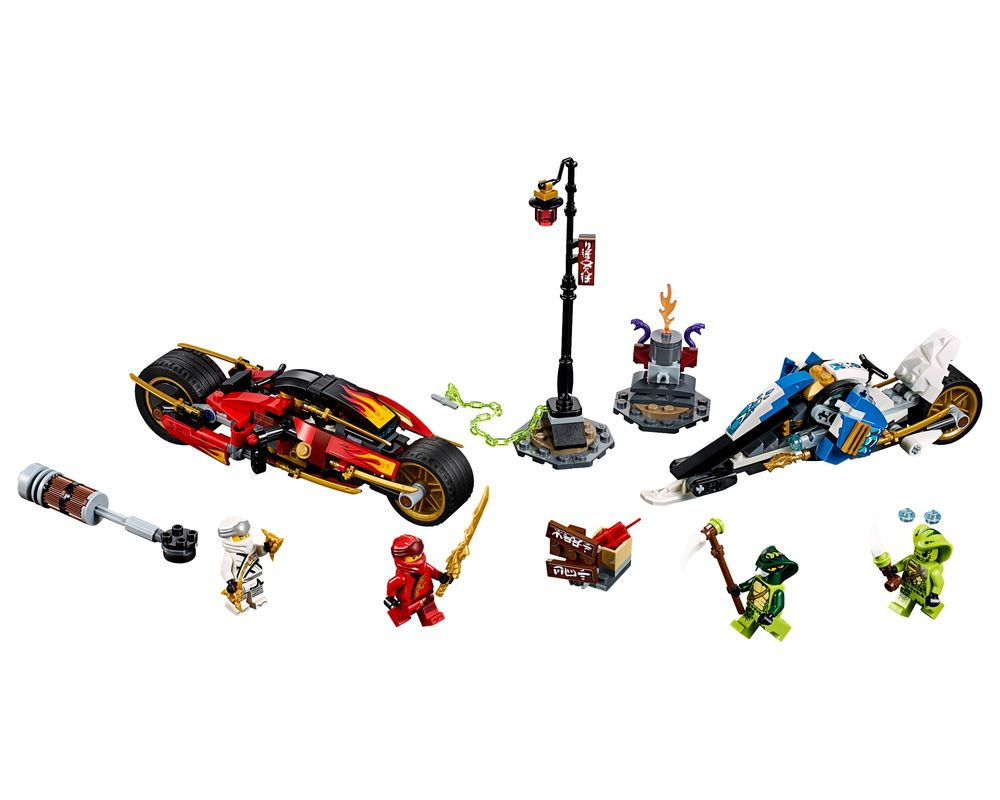 LEGO Set 70667-1 Kai's Blade Cycle & Zane's Snowmobile (Model - A-Model)