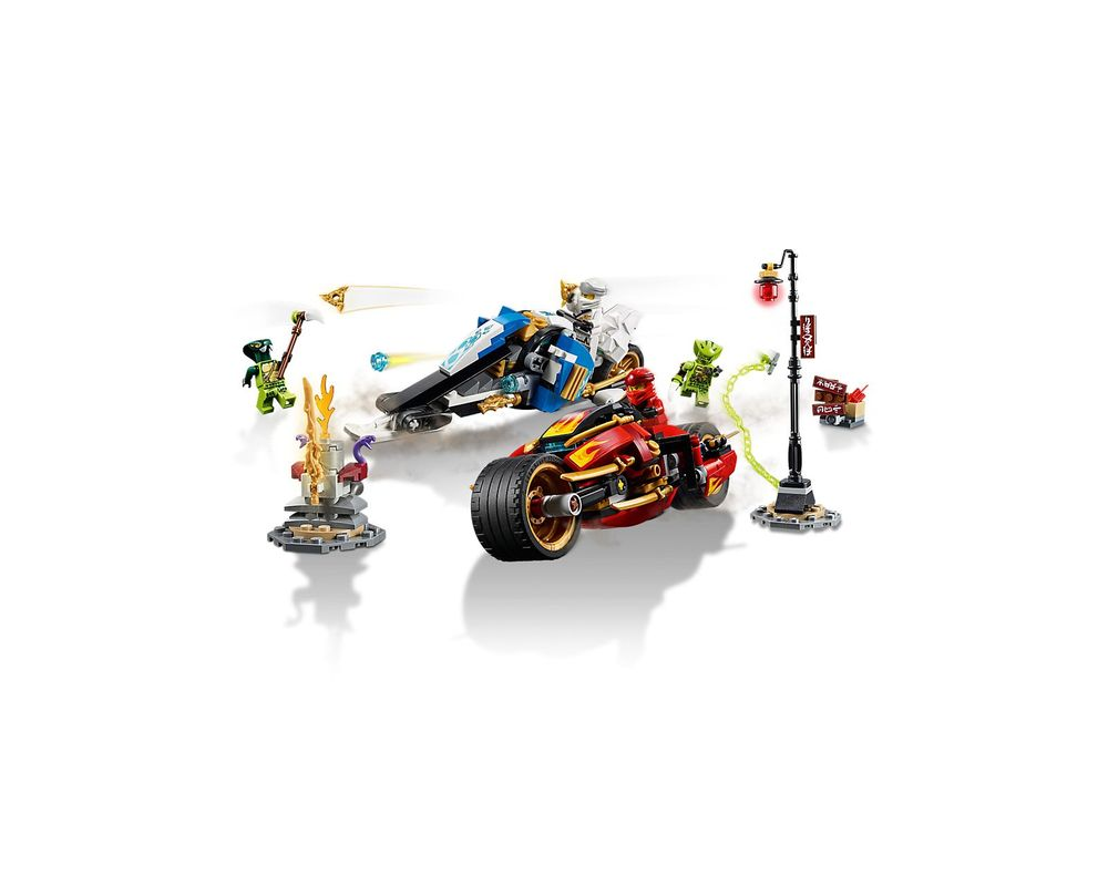 LEGO Set 70667-1 Kai's Blade Cycle & Zane's Snowmobile