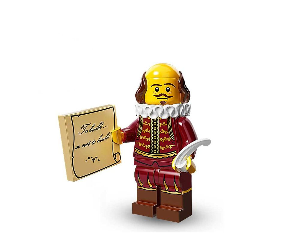 Lego Set 71004 8 William Shakespeare 2014 Collectible Minifigures The Lego Movie Series Rebrickable Build With Lego